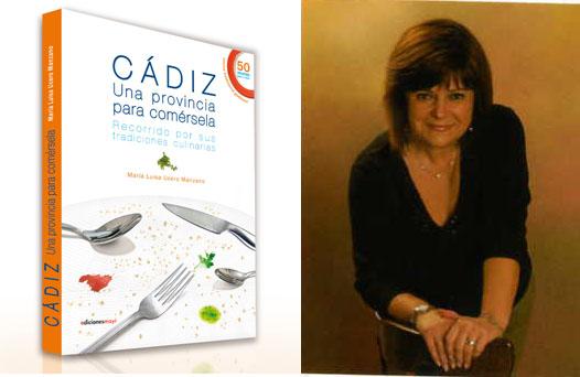 María Luisa Ucero junto a la portada de su libro.