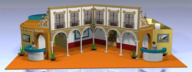 El patio del Instituto de Santo Domingo fue precisamente el marco utilizado por el Ayuntamiento de El Puerto en Fitur.