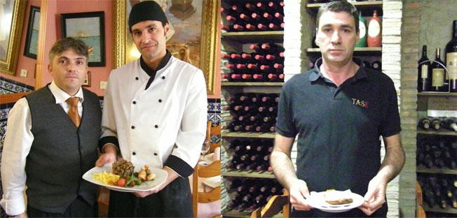 Eduardo Vélez y Manuel Ramos de La Fondue y Manuel Sánchez de La Task. Fotos: Cosas de Comé