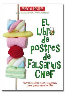 Portada del libro de los postres de Falsarius Chef
