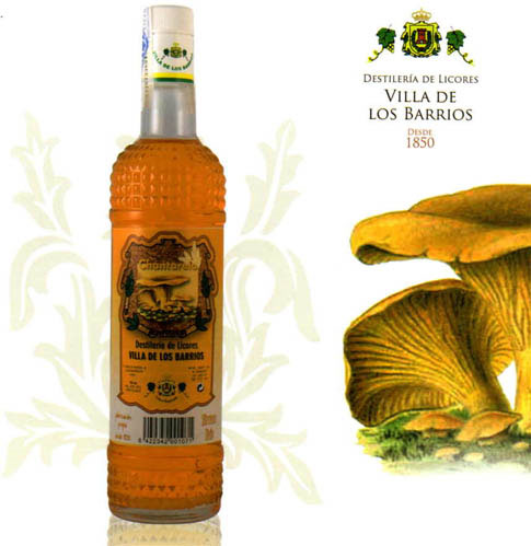 El licor de chantarellas ideado por la destilería.
