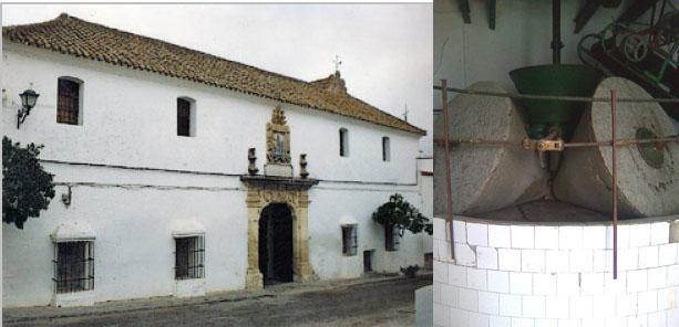 Fachada del Molino de Espera, que continúa abierto al público y el antiguo molino de piedra donde se molía el aceite. Fotos: Cosas de Comé
