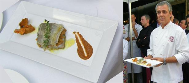 El plato de sargo de Pepe Romero Valdespino de la Mesa Redonda de Jerez. Foto: Cosas de Comé