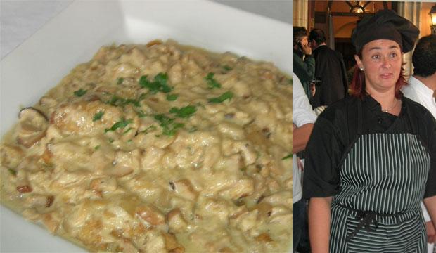 El plato de Gallineta y Carmen Avila del restaurante Mesilla de los Angeles de Jimena. Foto: Cedidas por el blog de Tubal