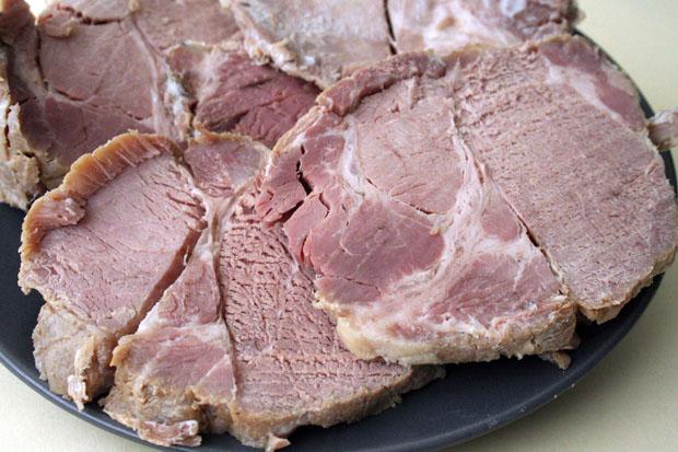 La carne mechá de Chacinas Olmedo. Foto: Lola Monforte