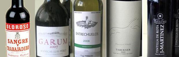 Los cinco vinos que se degustarán en la Cata de Cuaresma.