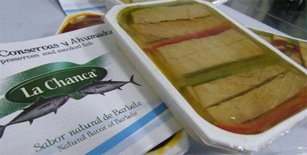 Los lomos de atún con pimientos rojos y verdes, una de las nuevas conservas de La Chanca. Foto: Cosas de Comé.
