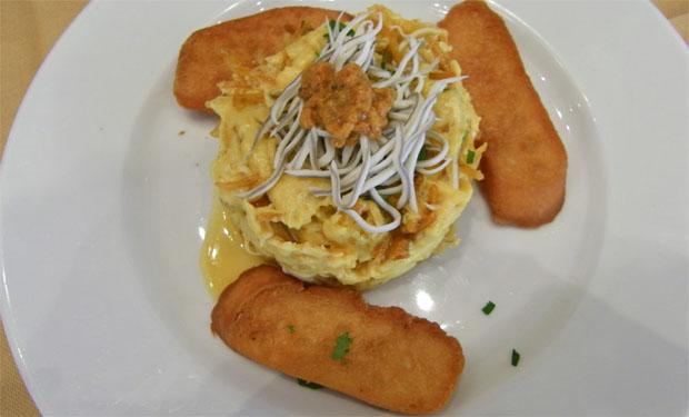 Revuelto de erizos con gulas, otro de los platos que se ofrecen en las jornadas. Foto: Cosas de Comé