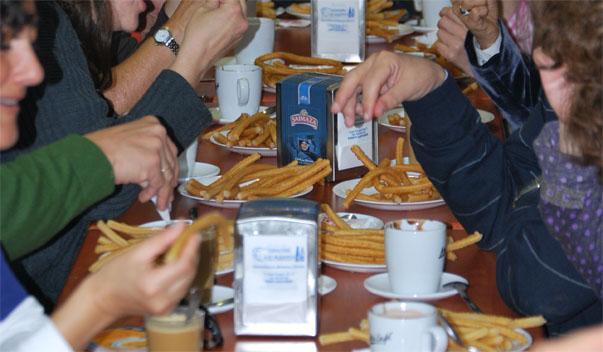 Imagen del desayuno en La Ponderosa. Foto: Sebastián Gómez