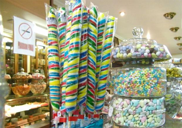 Caramelos expuestos en Maype. Foto Cosas de Comé.