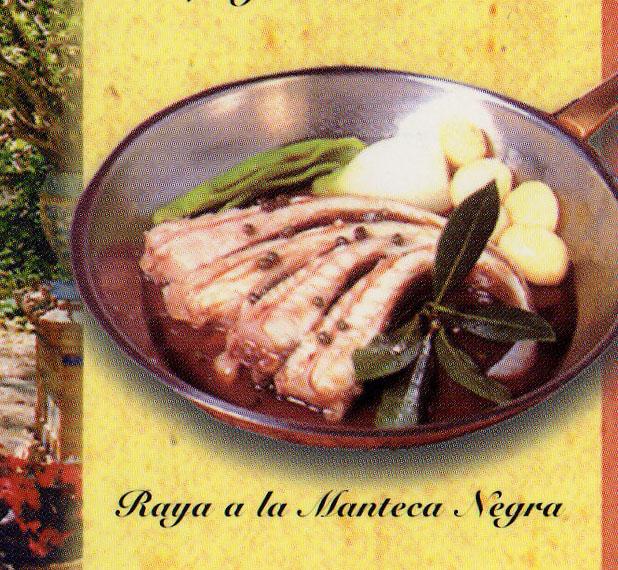 Reproducción de un folleto del restaurante Los Remos donde se muestra el plato.