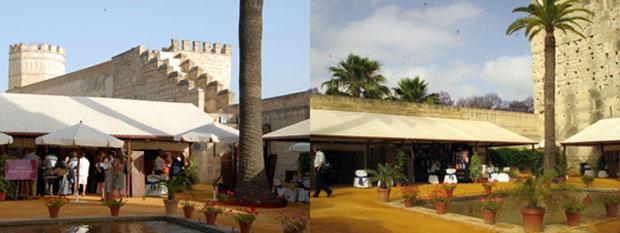 Imágenes de los expositores de Vinoble en el Alcazar de Jerez. Fotos cedidas por Vinoble
