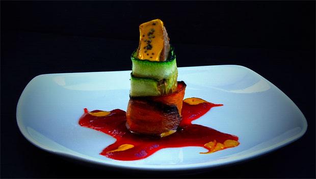 Flor de atún, la tapa que presenta a concurso el restaurante Gaspar. Foto: Jurgen Van Olmen