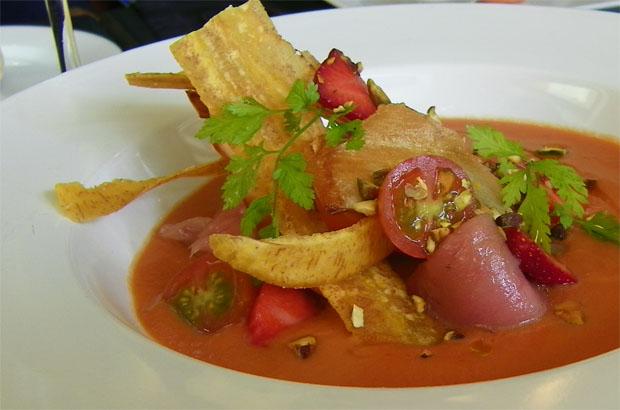 El gazpacho de fresas. Foto: Cosas de Comé