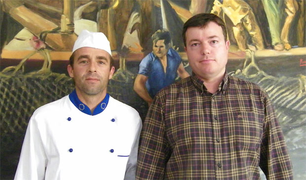 José Estrella Peral y Eduardo Guirola del restaurante del Hotel Pozo del Duque