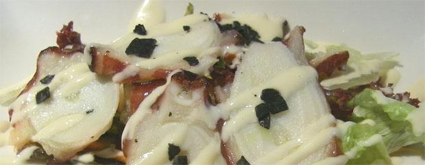 Pulpo con salsa Miso. Foto: Cosas de Comé