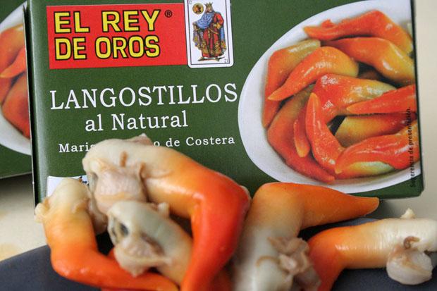 Los langostillos al natural, el nuevo producto de El Rey de Oros. Foto: Lola Monforte