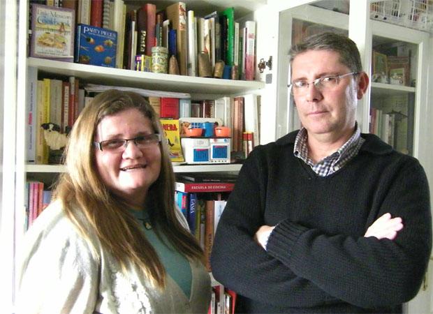 Pilar Acuaviva, autora de la receta, junto a Juan Antonio Mena. Foto: Cosas de Comé.