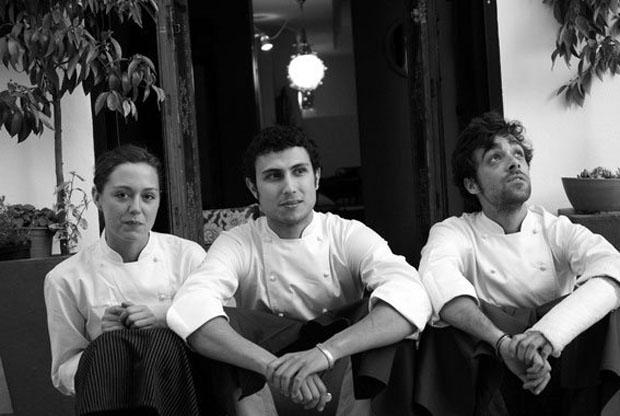 Los cocineros de Albedrio, Laura López, José Fuentes y Jaime Mato. Foto: Cedida por el restaurante Albedrio