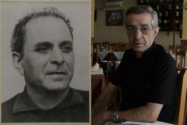 Eugenio Espinosa Morales, creador de la receta y su hijo Eugenio Espinosa Palacios que la realiza actualmente en el restaurante Eugenio Guadalete