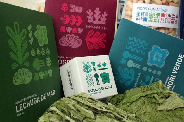 Los productos de la empresa gaditana Sur Algae. Foto: Lola Monforte