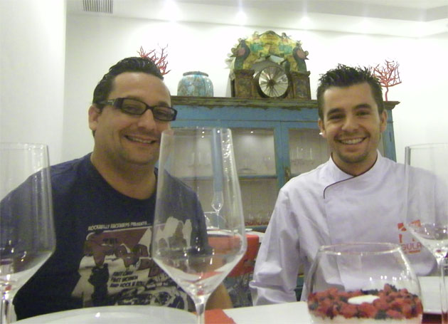 Alejandro Girón, propietario de Gula y Juan de Dios Heredia, jefe de cocina. Foto: Cosas de Comé.