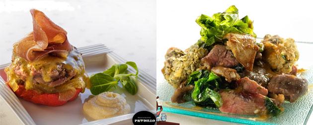 Las tapas ganadoras del restaurante Pradillo y de Casa Juanito. Fotos cedidas por la Asociación de Comerciantes de Zahara.
