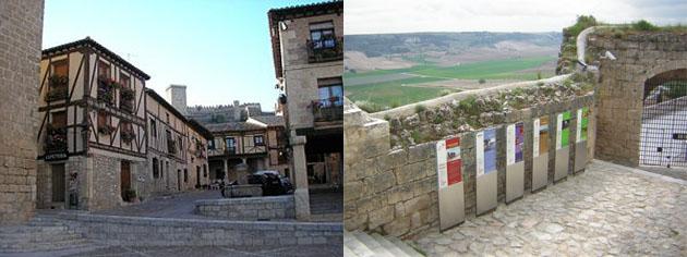 Imagen de Peñaranda de Duero y del museo del Vino de Peñafiel. Fotos de la página de la Diputación de Valladolid