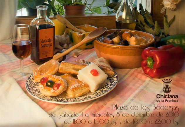 Bodegón de productos chiclaneros que se reproduce en la cartel de la feria gastronómica, donde aparecen algunos de los productos que se expondrán.