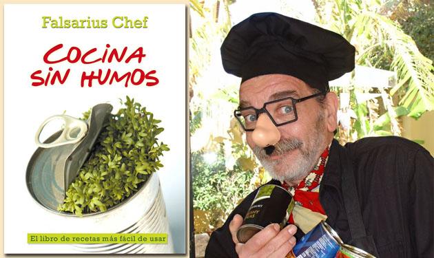 La portado del nuevo libro de Falsarius y el laureado cocinero. Foto: Cedidas por La Compañía de la Tinta