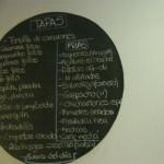 Lista de tapas de Casa Postas