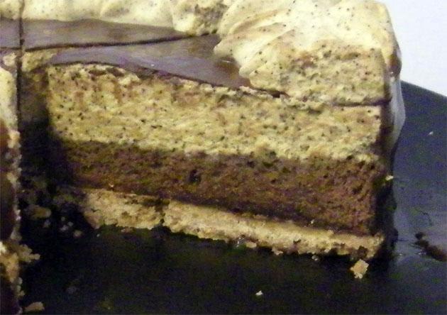 La nueva tarta de Selva Dulce: Mousse de café con leche aromatizada con canela. Foto: Cosas de Comé.