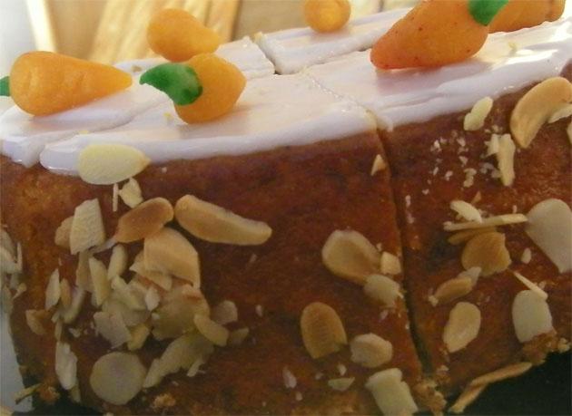 Tarta de zanahorias y bizcocho de Selva Dulce. Foto: Cosas de Comé.