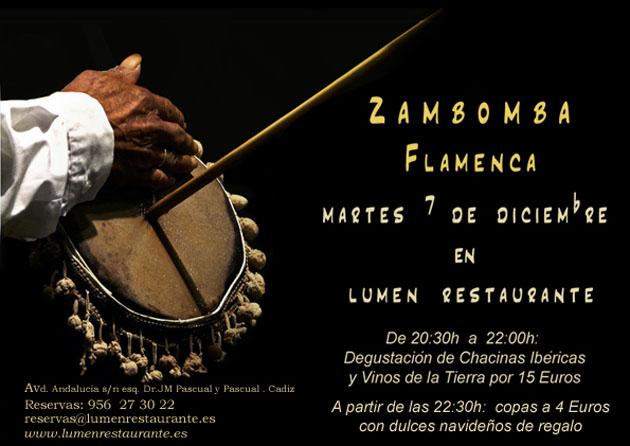 El cartel anunciador de la zambomba.