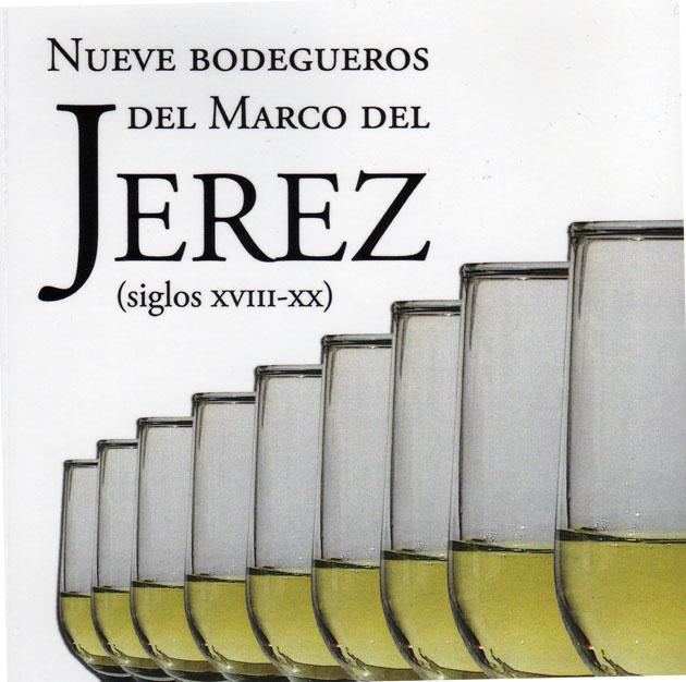 Detalle de la portada del libro Nueve Bodegueros del Marco de Jerez.