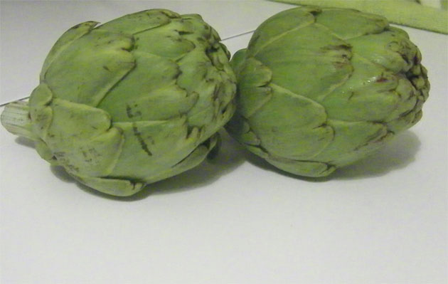 Alcauciles de Conil recien cogidos. Foto: Cosas de Comé
