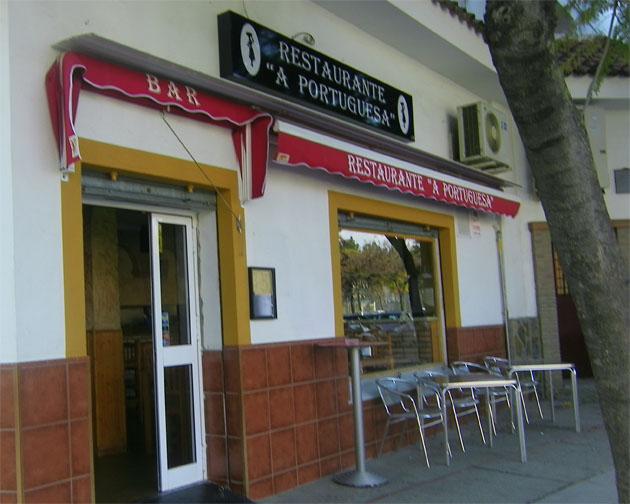 La terraza del restaurante A Portuguesa. Foto: Cosas de Comé.