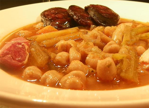 Berza típica de Vejer. Foto: Cosas de Comé.