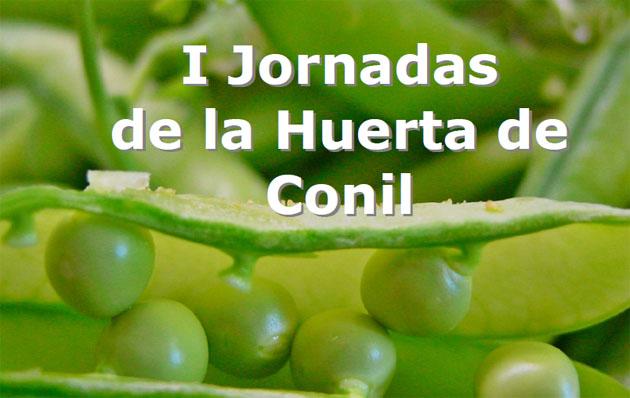 Detalle del cartel anunciador de las jornadas en el que aparecen unos chicharitos, una de las verduras ahora en temporada y más genuinas de la localidad.