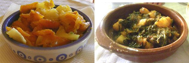 """El """"Empujao"""" y las papas con acelgas. Foto: Cosas de Comé"""