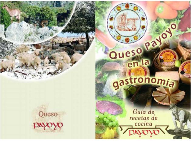La contraportada y la portada del recetario editado por los payoyos. Foto cedida por la Quesería.