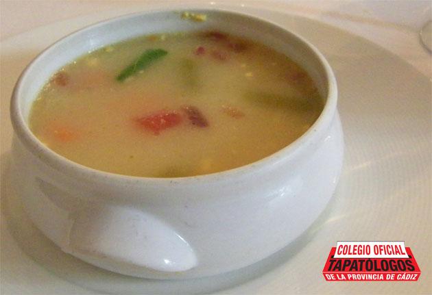 Sopa de picadillo del restaurante El Duque, caso de sopística tropezoidal registrado en Medina. Foto: Cosas de Comé