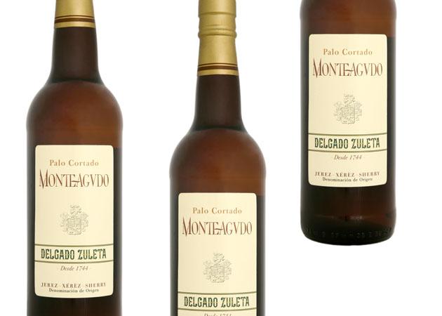El palo cortado, uno de los vinos de la gama Monteagudo de Delgado Zuleta. Foto: Cedida por bodegas Delgado Zuleta
